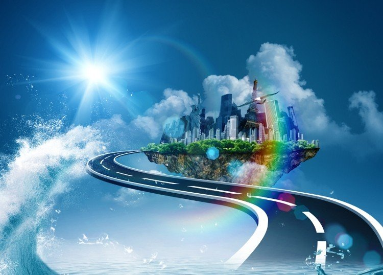 Road to heaven, abstract environmental backgrounds for your design