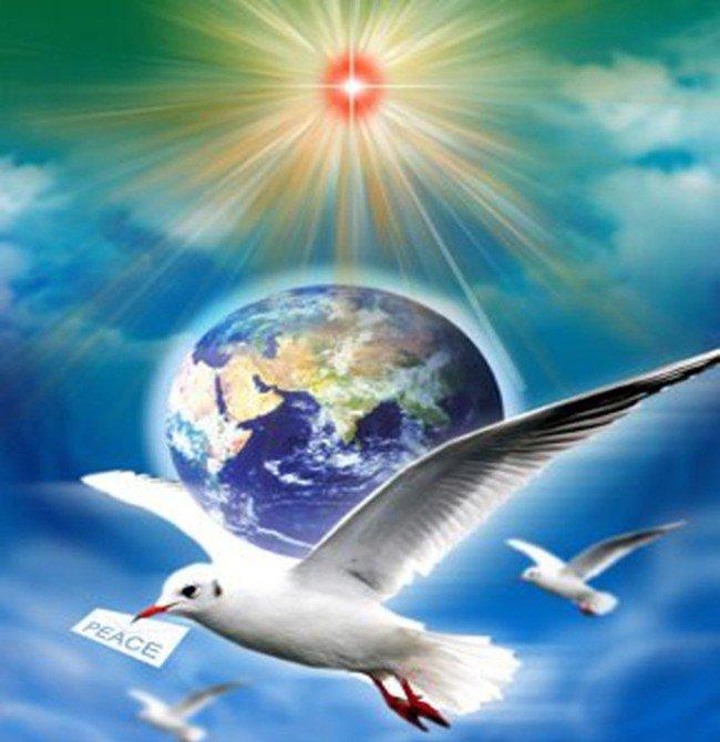 Открытка мир на всей земле